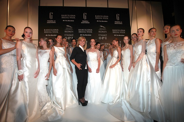 Rosa Clara con Larissa Windisch-Graetz y sus modelos