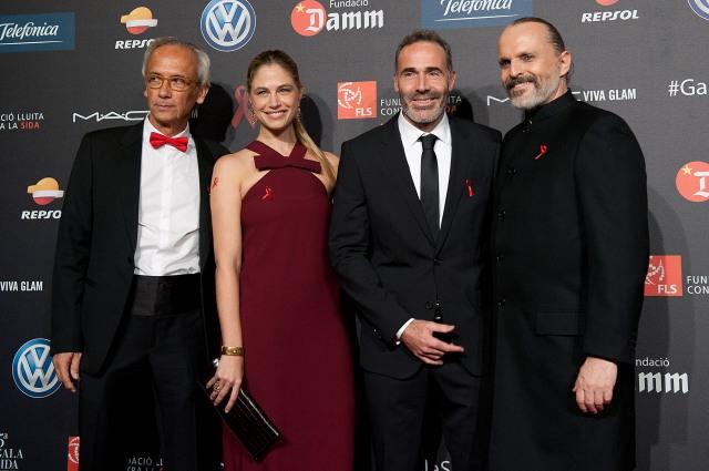 Dr. Clotet, Martina Klein, Alex Corretja, Miguel Bosé