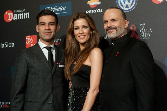 Rafa Marquez, Jaydy Michel, Miguel Bosé