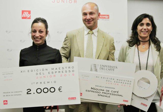 Ganadora Victoria Lozano - Mario Ravazzolo illycaffè - Elisa Barral Le Meridien