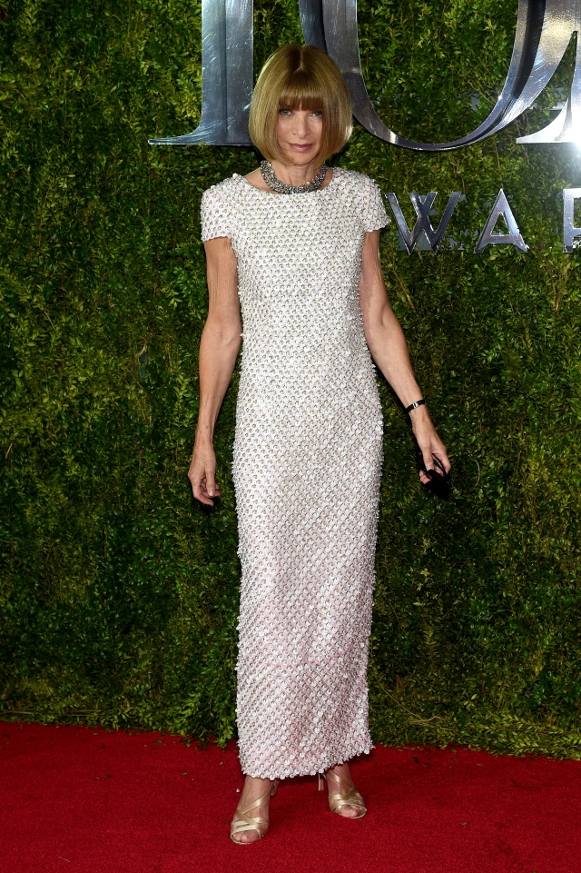 NEW YORK, NY - JUNE 07:  Anna Wintour attends the 2015 Tony Awards  at Radio City Music Hall on June 7, 2015 in New York City.  (Photo by Dimitrios Kambouris/Getty Images for Tony Awards Productions)