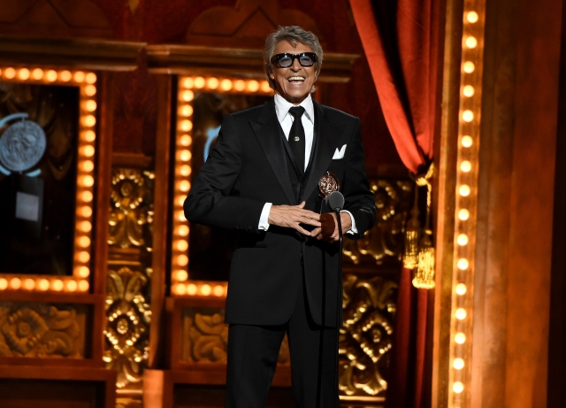 NEW YORK, NY - JUNE 07: Tommy Tune accepts the Special Tony Award for Lifetime Achievement in the Theatre onstage during the 2015 Tony Awards at Radio City Music Hall on June 7, 2015 in New York City..  (Photo by Theo Wargo/Getty Images for Tony Awards Productions)