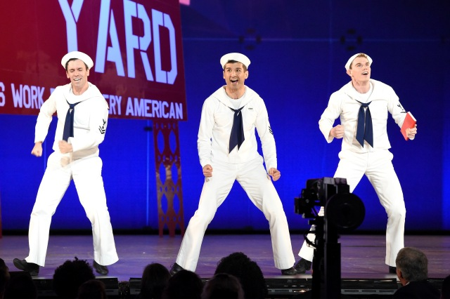NEW YORK, NY - JUNE 07:  The cast of 'On the Town' performs onstage at the 2015 Tony Awards at Radio City Music Hall on June 7, 2015 in New York City.  (Photo by Theo Wargo/Getty Images for Tony Awards Productions)