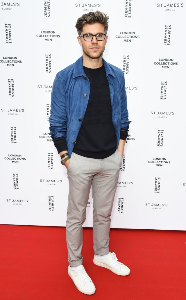LONDON, ENGLAND - JUNE 13:  Collection Stylist Darren Kennedy attends the Jermyn Street St James's catwalk show for London Collections Men on June 13, 2015 in London, England.  (Photo by David M. Benett/Getty Images for The Crown Estate) *** Local Caption *** Darren Kennedy