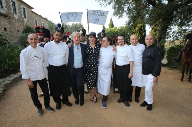 Castell Emporda Rossy de Palma y Albert Diks y los chefs