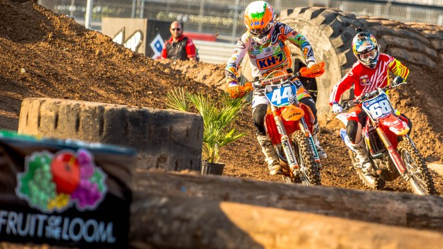 Austin, TX - June 5, 2015 - Downtown: Laia Sanz and Tarah Gieger competing in Moto X Enduro X Women's Final during X Games Austin 2015 (Photo by Nick Guise-Smith / ESPN Images)