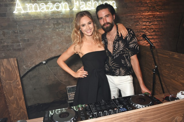 LONDON, ENGLAND - JULY 23:  Jack Guinness (L) and Suki Waterhouse attend the Amazon Fashion Photography Studio launch party, which opened on July 23, 2015 in London, England.  Guest of honour was Suki Waterhouse, Amazon Fashion face for AW15 and special guest DJ, Jack Guinness.  (Photo by David M. Benett/Dave Benett/Getty Images for Amazon Fashion) *** Local Caption *** Jack Guinness; Suki Waterhouse