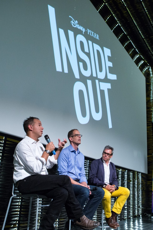 MADRID, SPAIN - JULY 15: Peter Docter and Jonas Rivera attend the 'Inside Out' photocall at the Cineteca on July 15, 2015 in Madrid, Spain.  (Photo by Pablo Cuadra/Getty Images)
