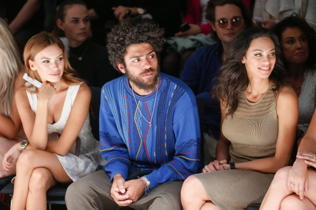 BERLIN, GERMANY - JULY 09: Anastasia Guseva, Noah Becker and Lilly Becker attend the Lavera Showfloor At Mercedes-Benz Fashion Week Berlin Spring/Summer 2016 on July 09, 2015 in Berlin, Germany. (Photo by Franziska Krug/Getty Images for Lavera Showfloor July 2015)