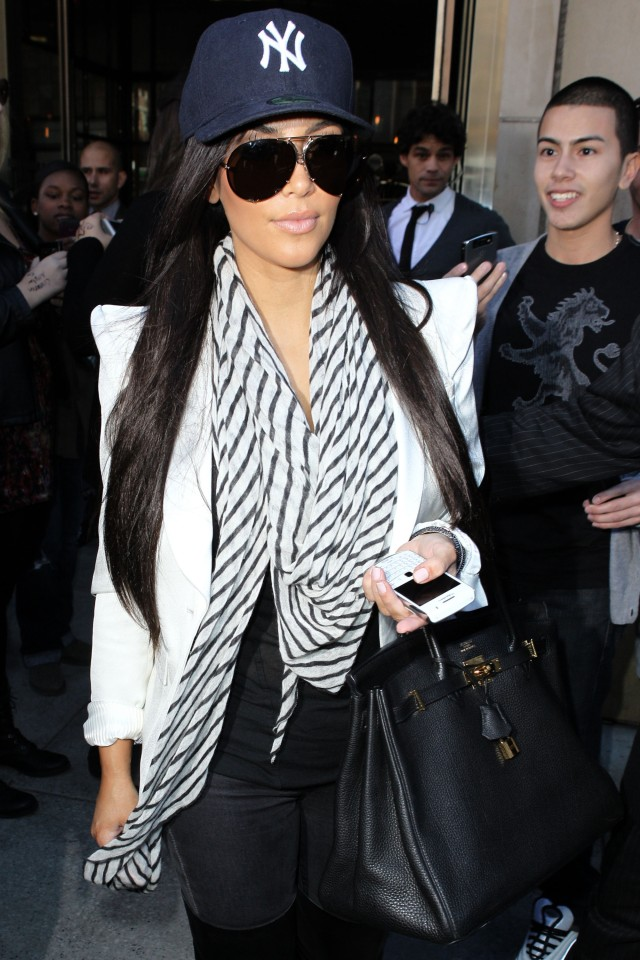 NEW YORK CITY - OCTOBER 13: Kim Kardashian sighting at TriBeCa hotel on October 13, 2010 in New York City. (Photo by Christopher Peterson/BuzzFoto/FilmMagic)