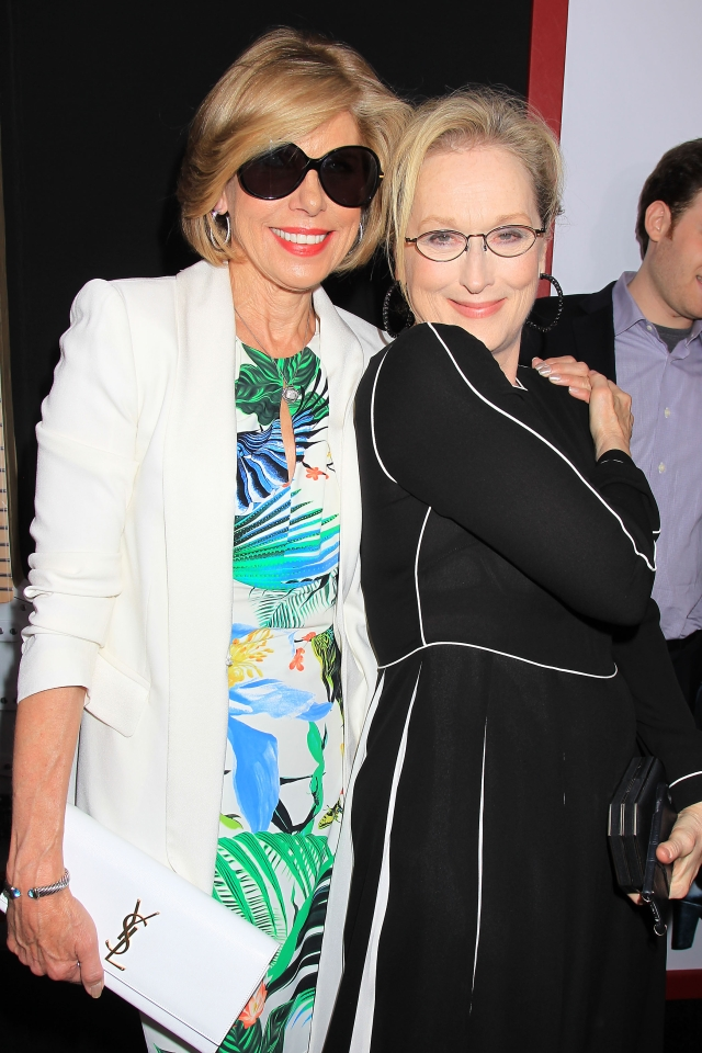 "New York,NY - 8/3/15:  Christine Baranski and Meryl Streep at the World Premiere of TriStar Pictures' ""RICKI AND THE FLASH at AMC Lincoln Square Theater..."