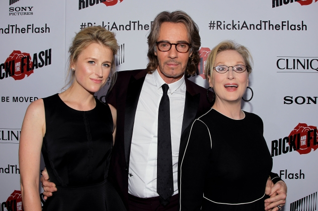 "New York,NY - 8/3/15:  Mamie Gummer, Rick Springfield and Meryl Streep at the World Premiere of TriStar Pictures' ""RICKI AND THE FLASH at AMC Lincoln Square Theater."