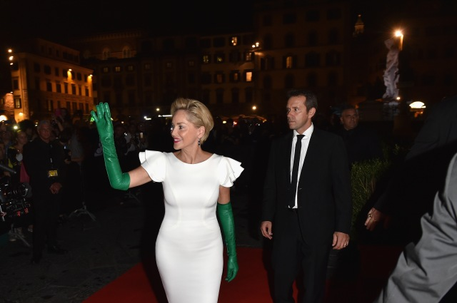 FLORENCE, ITALY - SEPTEMBER 13:  Sharon Stone attends the 'Celebrity Fight Night' sponsored by Jeep at Palazzo Vecchio on September 13, 2015 in Florence, Italy.  (Photo by Tullio M. Puglia/Getty Images)