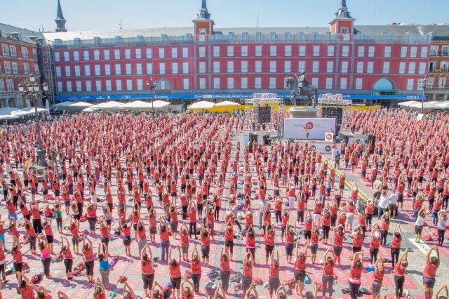 free yoga by Oysho Barcelona 3 de octubre