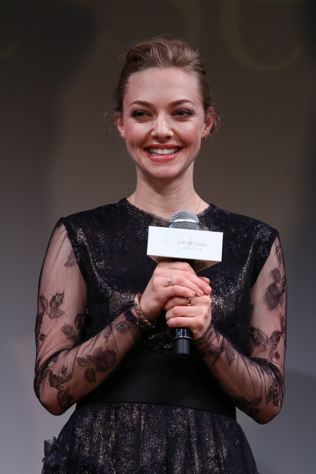 TOKYO, JAPAN - JUNE 02:  Actress Amanda Seyfried attends 'Cle de peau BEAUTE 2014' promotional event at the Ritz Carlton Tokyo on June 2, 2014 in Tokyo, Japan.  (Photo by Ken Ishii/Getty Images for Shiseido) *** Local Caption *** Amanda Seyfried