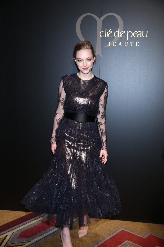 TOKYO, JAPAN - JUNE 02:  Actress Amanda Seyfried poses for photo as she attends 'Cle de peau BEAUTE 2014' promotional event at the Ritz Carlton Tokyo on June 2, 2014 in Tokyo, Japan.  (Photo by Ken Ishii/Getty Images for Shiseido) *** Local Caption *** Amanda Seyfried