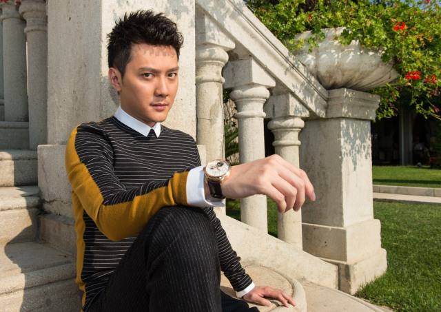 VENICE, ITALY - SEPTEMBER 06:  Actor Shaofeng Feng of 'Huang jin shi dai' (The Golden Era) poses for a portrait wearing a Jaeger-LeCoultre watch during the 71st Venice Film Festival at the Excelsior Hotel on September 6, 2014 in Venice, Italy.  (Photo by Ian Gavan/Getty Images for Jaeger-LeCoultre) *** Local Caption *** Shaofeng Feng