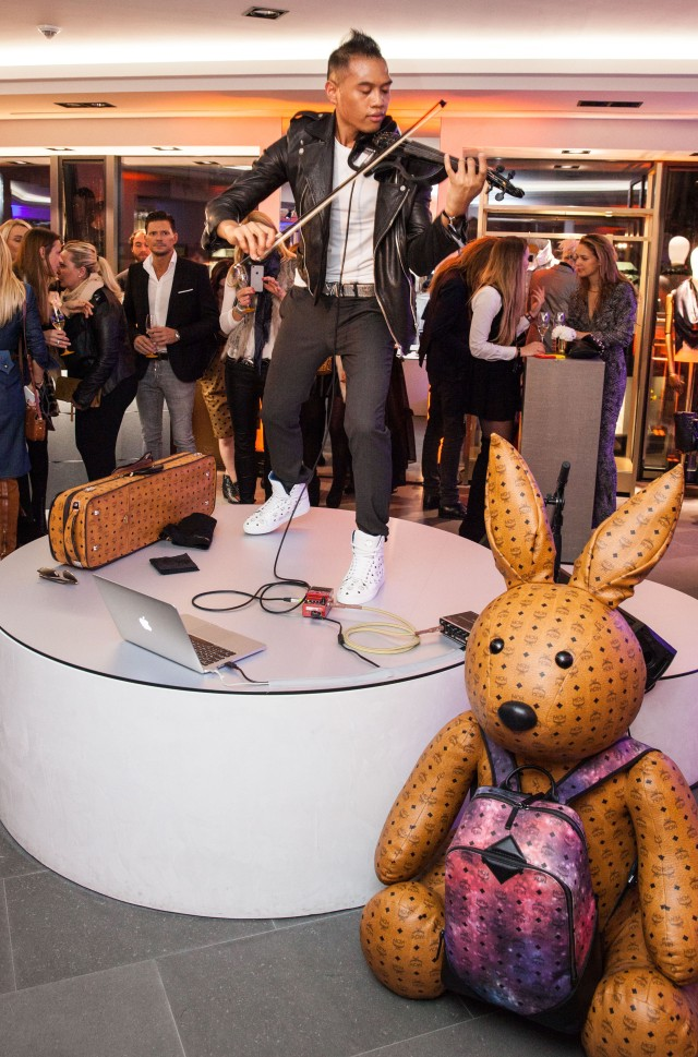 FRANKFURT AM MAIN, GERMANY - OCTOBER 22: Bryson Andres performs at the MCM Space Odyssey Event at Frankfurt Opera Store on October 22, 2015 in Frankfurt am Main, Germany. (Photo by Thomas Lohnes/Getty Images for MCM) *** Local Caption *** Bryson Andres