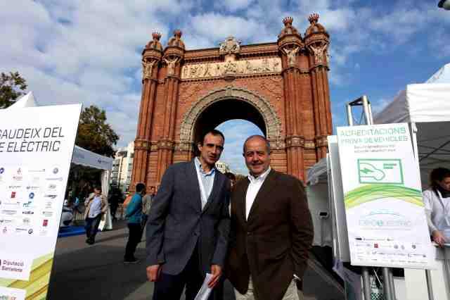Personalidades visitan la feria del vehiculo electric, EXPOELECTRIC 2015. Barcelona. fotos: R.Rasero; R.Duaso