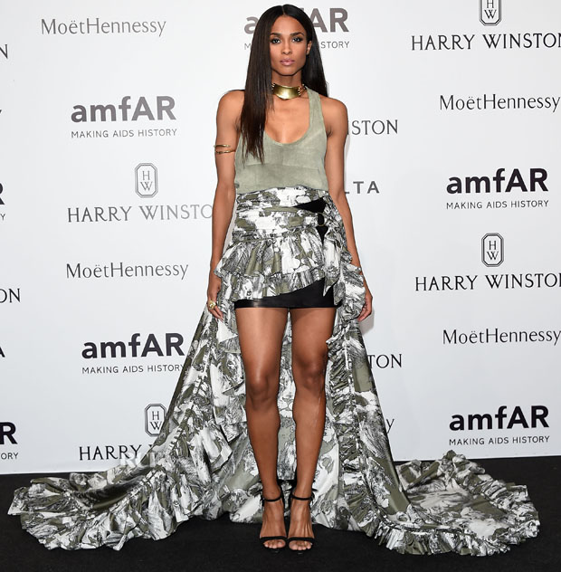 MILAN, ITALY - SEPTEMBER 26:  Ciara arrives at amfAR Milano 2015 at La Permanente on September 26, 2015 in Milan, Italy.  (Photo by Venturelli/Getty Images for amfAR)