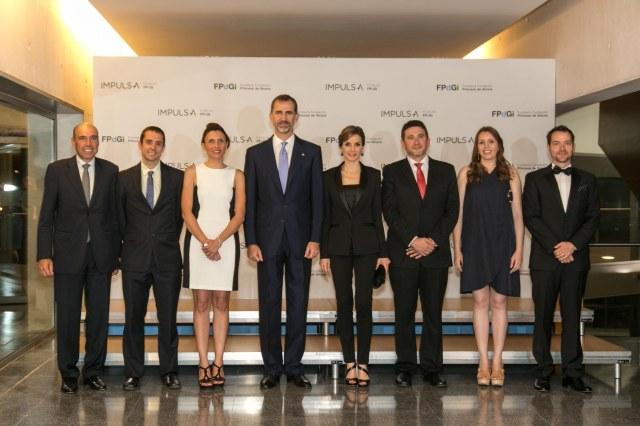 Fotografia de los premiados en la edición de los Premios FPdGi 2015