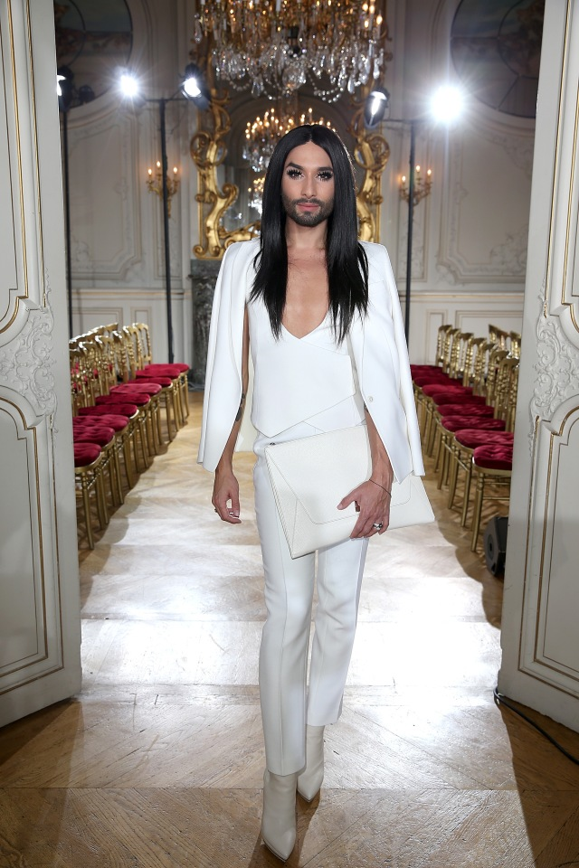 PARIS, FRANCE - OCTOBER 04:  Conchita Wurst attends the Kaviar Gauche show as part of the Paris Fashion Week Womenswear Spring/Summer 2016 at Salon France-Ameriques on October 4, 2015 in Paris, France.  (Photo by Pierre Suu/Getty Images for Kaviar Gauche) *** Local Caption *** Conchita Wurst