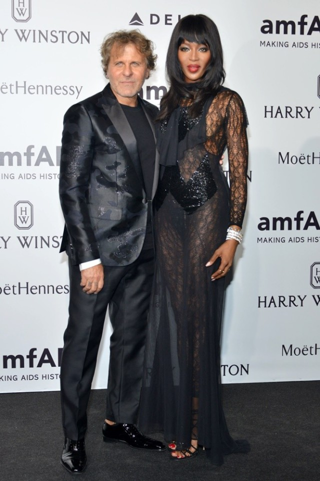 amfAR's Milan Fashion Week Gala 2015 - Arrivals Featuring: Renzo Rosso, Naomi Campbell Where: Milan, Italy When: 26 Sep 2015 Credit: IPA/WENN.com **Only available for publication in UK, USA, Germany, Austria, Switzerland**
