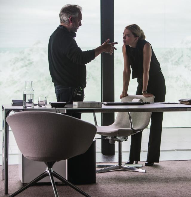 Director Sam Mendes and L?a Seydoux on the set of Metro-Goldwyn-Mayer Pictures/Columbia Pictures/EON Productions? action adventure SPECTRE.