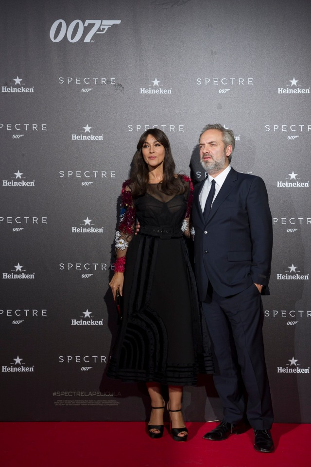 Monica Belluci and Sam Mendes attend the SPECTRE Premier in Madrid - Spain