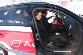 KITZBUEHEL, AUSTRIA - JANUARY 22: Model Irina Shayk attends the Audi Driving Experience during the Audi Hahnenkamm race weekend on January 22, 2016 in Kitzbuehel, Austria. (Photo by Gisela Schober/Getty Images)