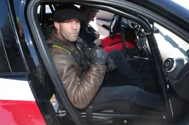 KITZBUEHEL, AUSTRIA - JANUARY 22: Jason Statham attends the Audi Driving Experience during the Audi Hahnenkamm race weekend on January 22, 2016 in Kitzbuehel, Austria. (Photo by Gisela Schober/Getty Images)