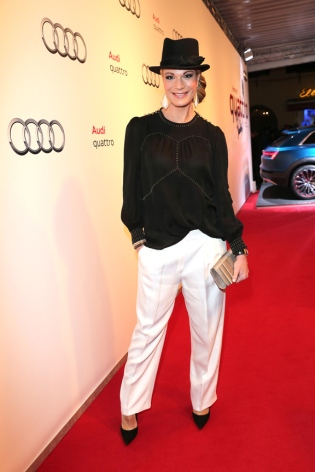 KITZBUEHEL, AUSTRIA - JANUARY 22: Maria Hoefl Riesch attends the AUDI Night 2016 during Hahnenkamm Race Weekend on January 22, 2016 in Kitzbuehel, Austria. (Photo by Gisela Schober/Getty Images)