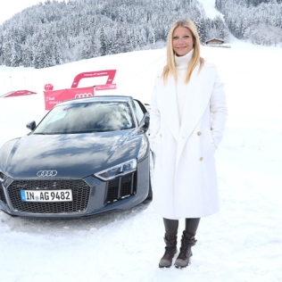 KITZBUEHEL, AUSTRIA - JANUARY 23: Gwyneth Paltrow attends the Audi driving experience during the Audi Hahnenkamm race weekend on January 23, 2016 in Kitzbuehel, Austria. (Photo by Gisela Schober/Getty Images)